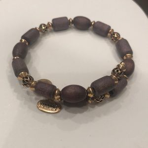 Alex and Ani wood bead bracelet